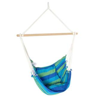 Hanging Hammock Swing Chair W/ Cushion Outdoors Camping Beach B