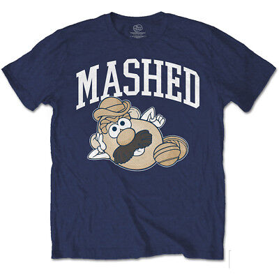 Mashed Mr Potato Head Toy Story Buzz Disney Pixar Official Navy Mens T-shirt