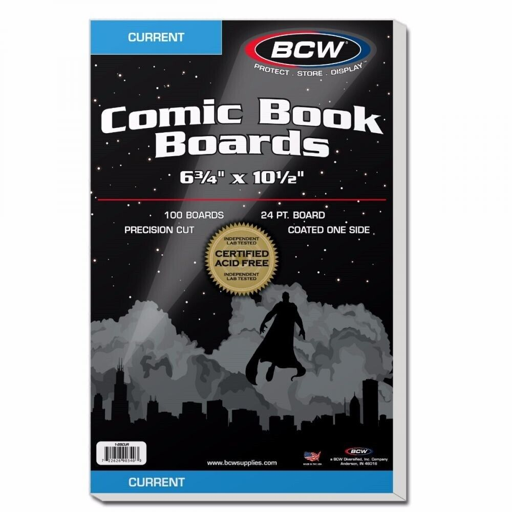 1000 Current Size CSP Boards for Books Comics Factory Sealed