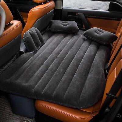 Black Car Auto Air Cushion Seats Sleep Rest Bed Mattress Inflatable Outdoor Sofa
