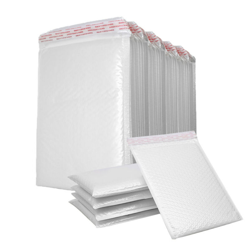 200PCs Poly Mailer Bubble Mailers 4 Layers Padded Envelopes Self Sealing