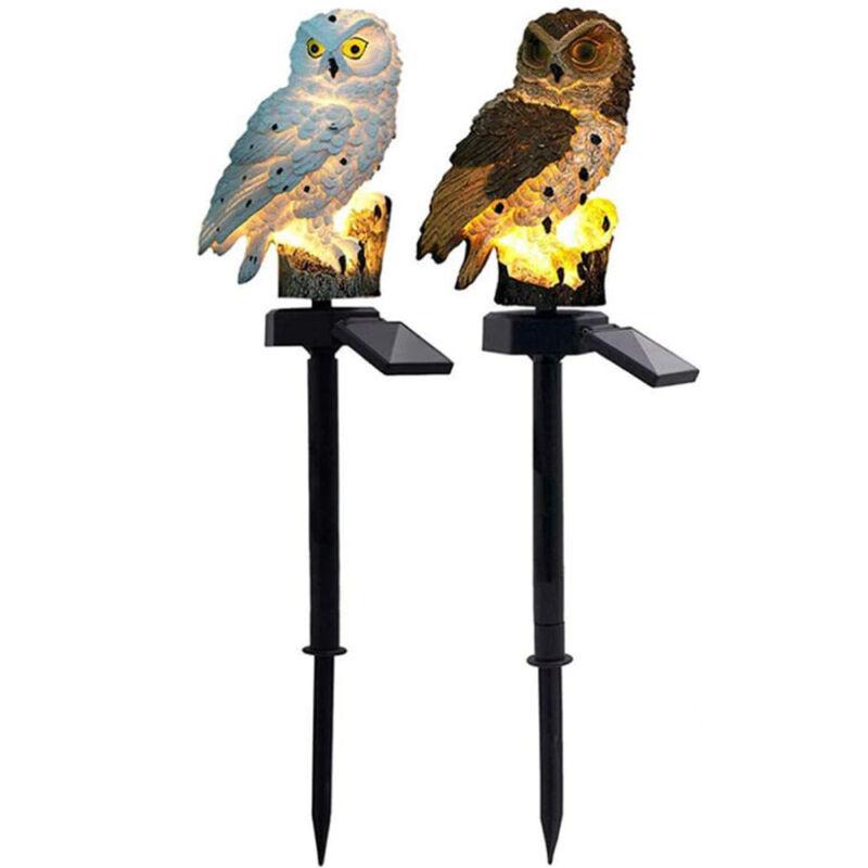 Solar LED Garden Light Owl Animal Lawn Lamp Outdoor Garden Landscape Yard Decor