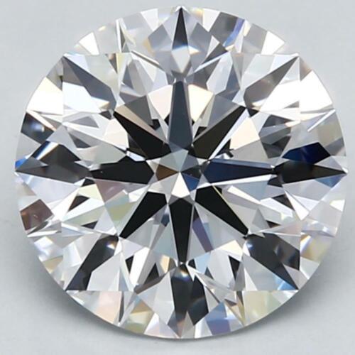 CVD Lab Grown Loose Diamond 3.00 Carat Ct Round Solitaire Cut F VVS1