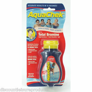 Aquachek bromine total alkalinity hardness ph swimming pool test strips ebay Swimming pool high alkalinity