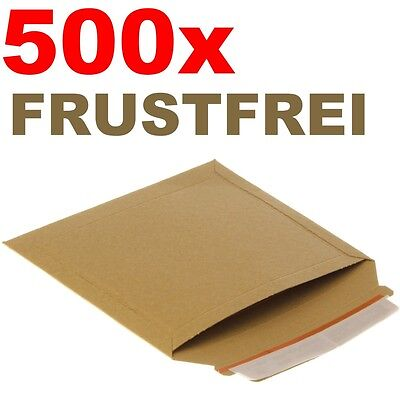 500 x Frustfreie Buch Verpackung - Vollpappe Versandtaschen - 23,5 x 18 cm - A5