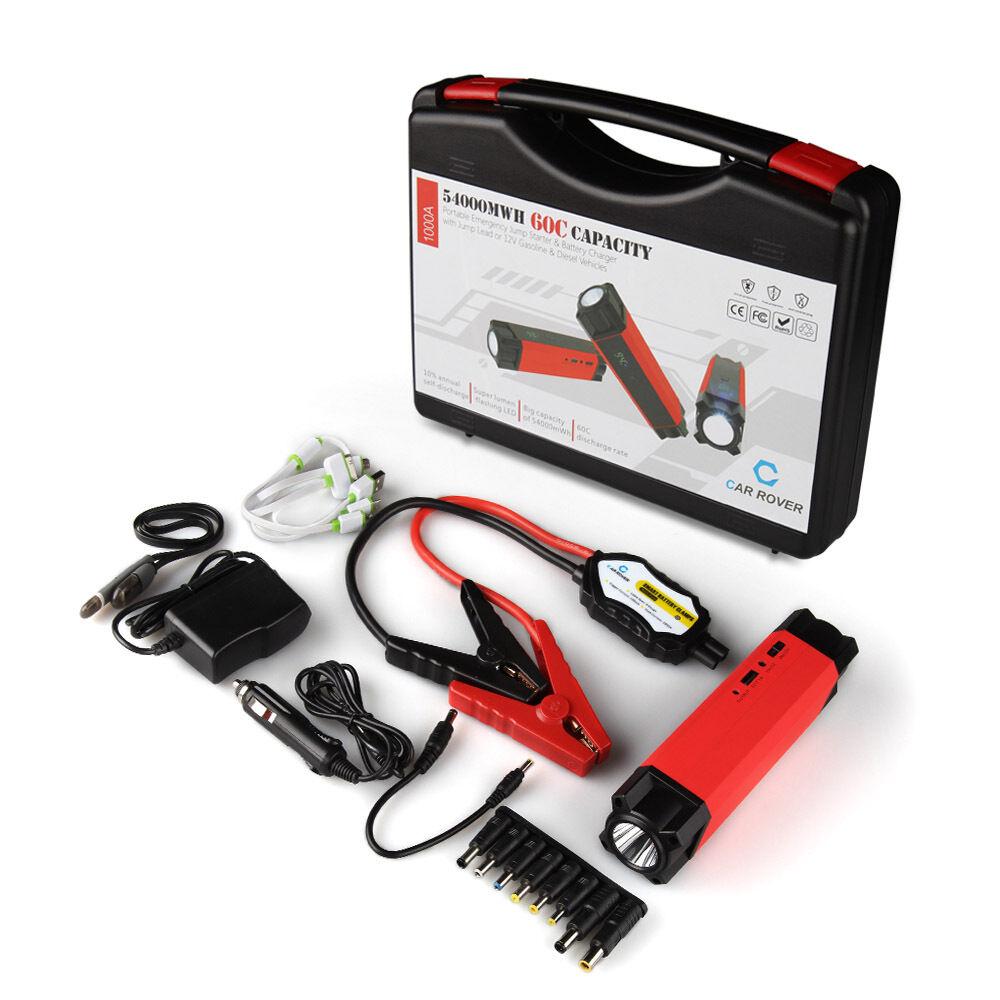 1000a peak 54000mwh portable car jump starter battery. Black Bedroom Furniture Sets. Home Design Ideas
