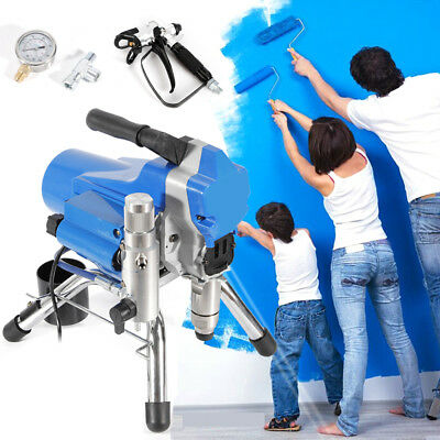 110v High Pressure Painting Wall Paint Spraying Machine 395 Airless Sprayer Gun