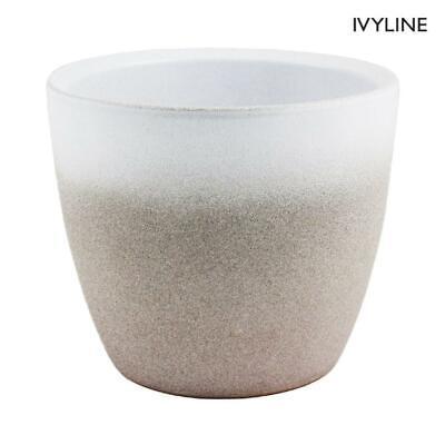 Ivyline Turno Stone Dove Grey Indoor Plant Pot Planter Flower Pot 17cm