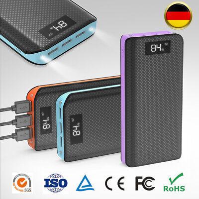 Power Bank 300000mAh Externe Batterie Ladegerät Zusatzakku USB LED für Handy