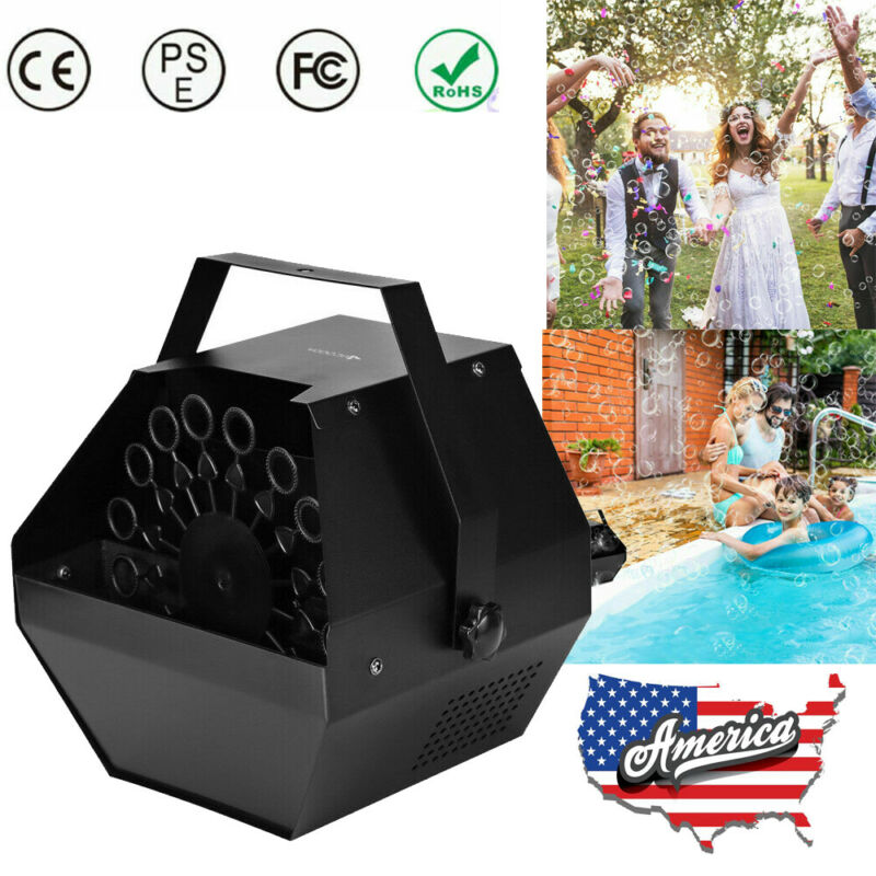 Automatic Maker Bubble Machine Auto Blower Party Stage Wedding Indoor/Outdoor US