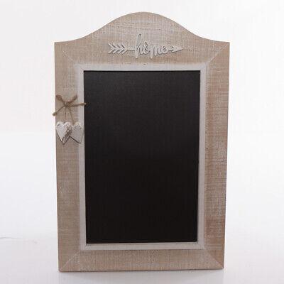 LAVAGNA MURO SHABBY CUORE HOME LAVAGNETTA legno parete ingresso cucina 43X28 CM