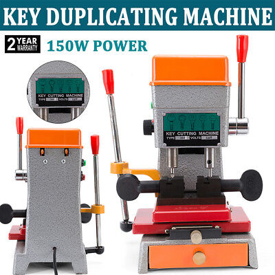 Us 110v Automatic Key Cutter Duplicating Vertical Key-cutting Machine Locksmith