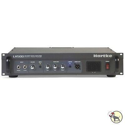 Hartke LH500 500-Watt Bass Guitar Amplifier Head Class-A Tube Preamp Circuit amp
