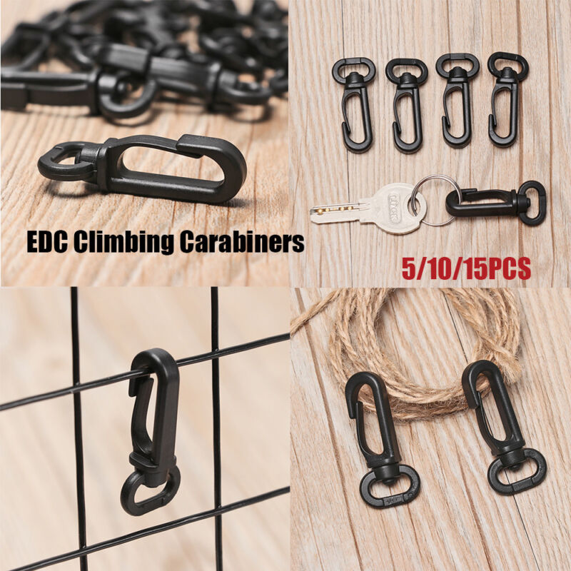 Buckles Snap Spring Clasp Climbing Carabiners EDC Keychain Clips Bottle Hooks