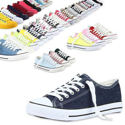 Damen Herren Sneakers Sportschuhe 97316 Freizeit Stoffschuhe Gr. 36-41 Mode
