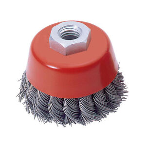 75MM-3-TWIST-KNOT-WIRE-CUP-BRUSH-M14-thread-for-ANGLE-GRINDER