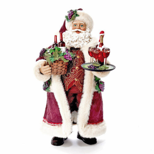 Kurt Adler Fabriche Santa - Santa Serving Wine Christmas Figurine C7469 *NEW*