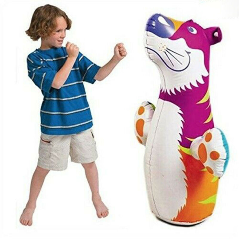 """38/"""" 3D Inflatable Dinosaur Toys Bop Bag//Punching Bag Interactive Toy Kid Gift"""