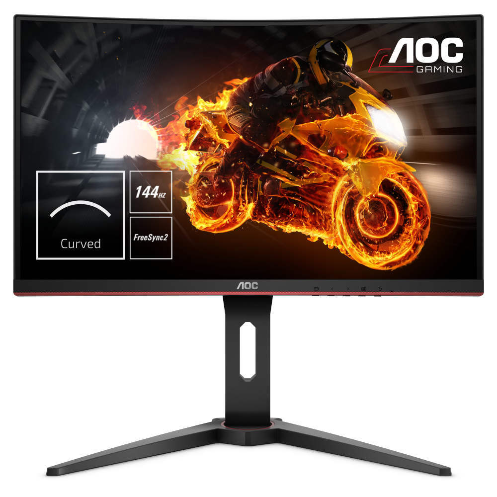 "AOC Gaming-Monitor C24G1 Curved 61 cm (24"") schwarz 144Hz, AMD FreeSync, 1ms, VA"
