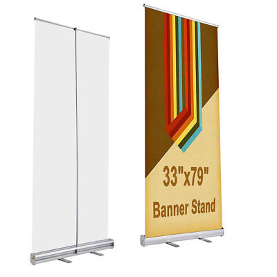 2 Pcs 33x79 Retractable Banner Stand Roll Up Road Show Fair Festival Display