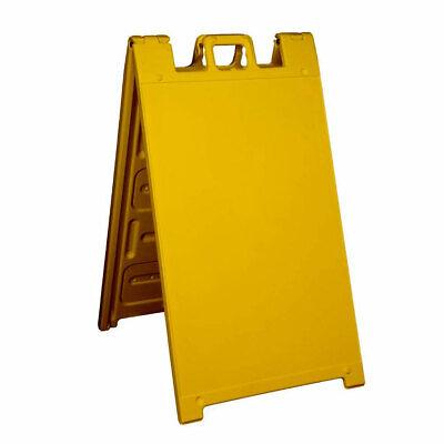 Plasticade Signicade A Frame Plain Folding Sidewalk Sign Yellow Open Box