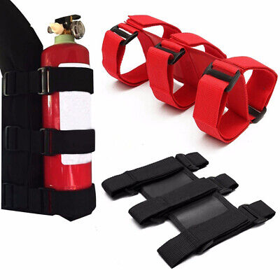 Nylon Cars Fire Extinguisher Fixing Holder Bracket Belt Straps For Automobile Us