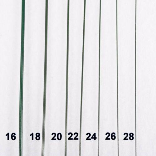 "Floral Stem Wire 18"" Green 20 Gauge Bulk 12 Pound Box USA Made"