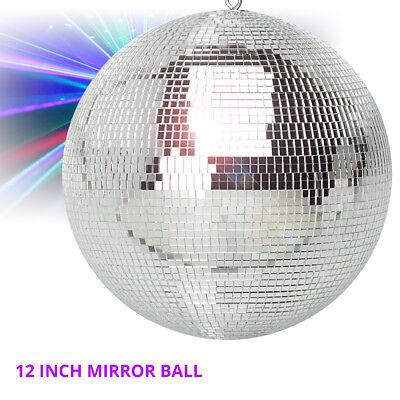 """Lightweight Silver Glitter Mirror Ball Wedding Party Disco Dance DJ (300mm 12"""")"""