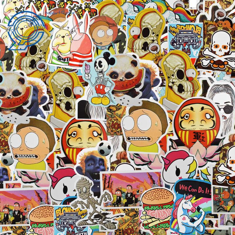700 Random Skateboard Stickers Vinyl Laptop Luggage Decals Dope Sticker Lot Mix