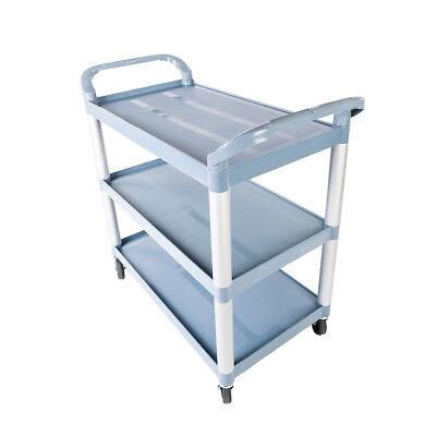 Multipurpose Storage Utility Plastic Cart 3 Layer Structural Foam Plastic Shelf