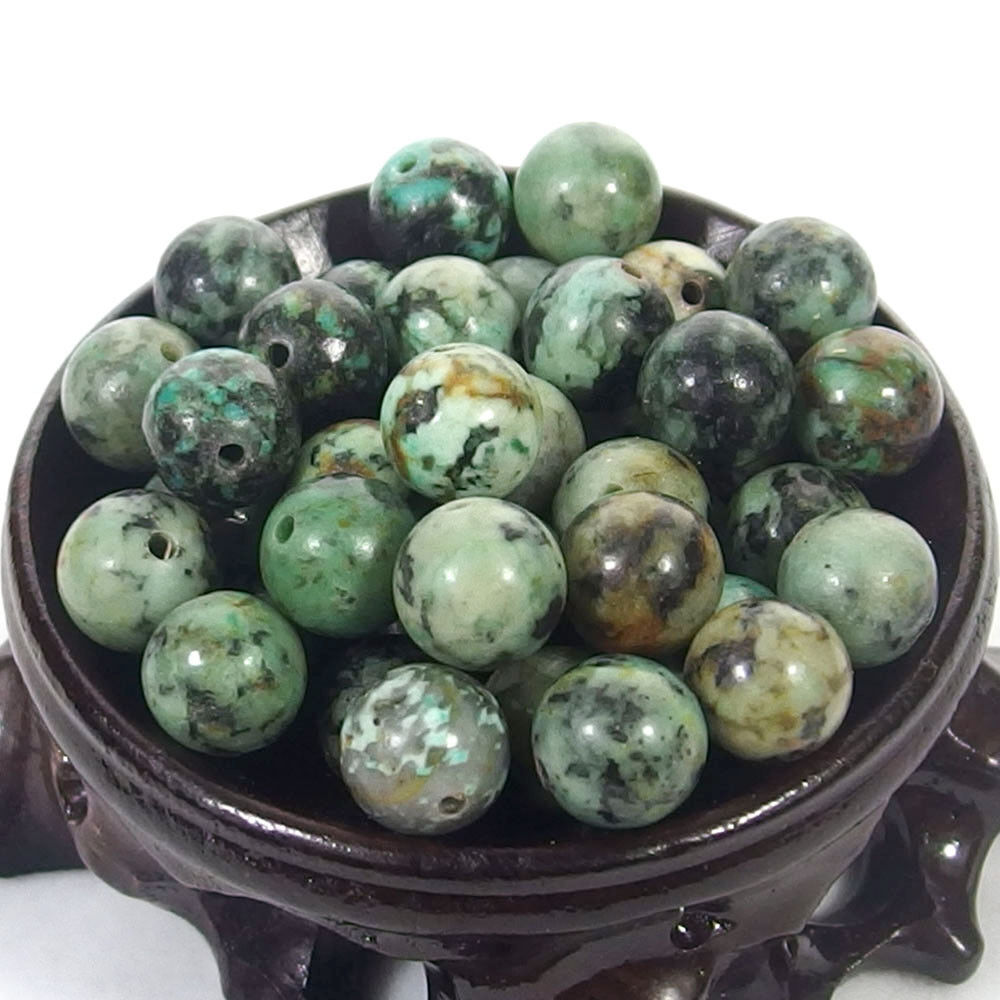 Bulk Gemstones I natural spacer stone beads 4mm 6mm 8mm 10mm 12mm jewelry design African turquoise