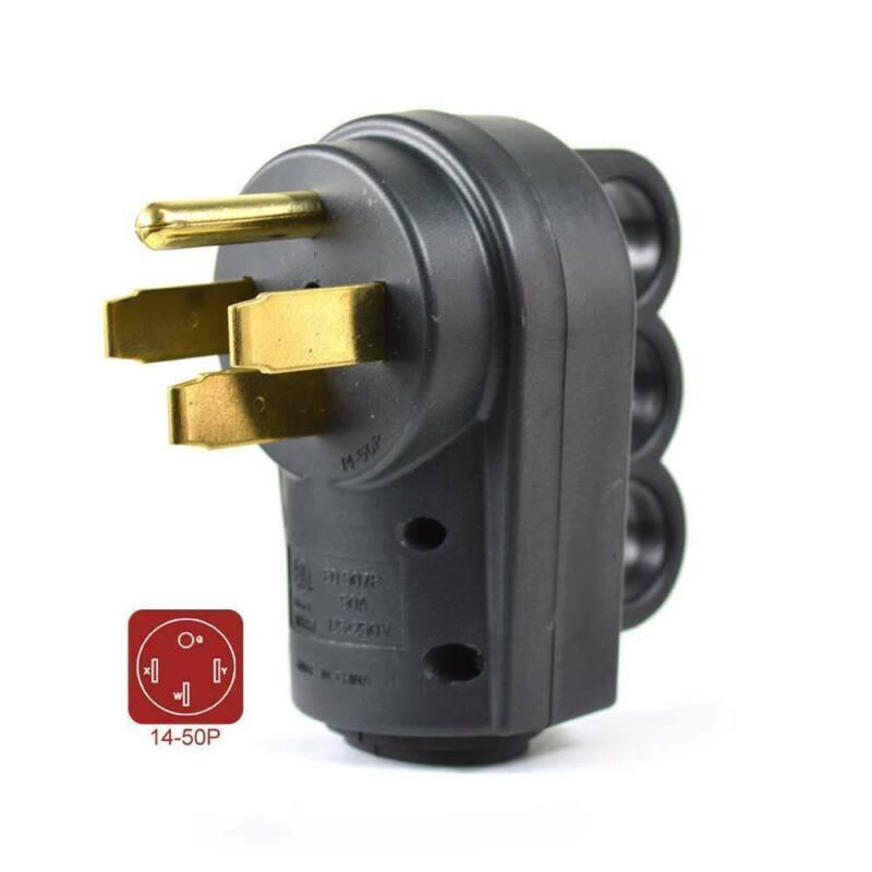50 AMP RV Male Plug NEMA 14-50P with Pull Handle
