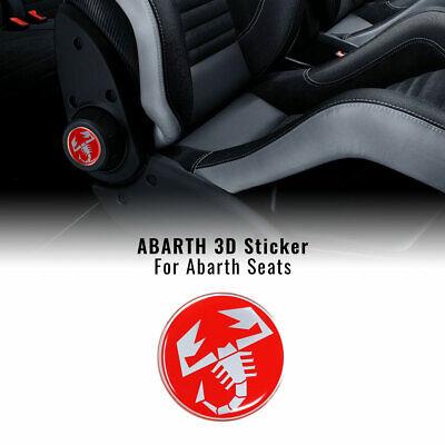 Adesivi 3D per Sedili Fiat 500 Abarth, Scorpione, 2 Pezzi, Diametro 60...