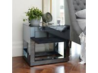 Mirrored Bedside Tables (Urgent Sale)