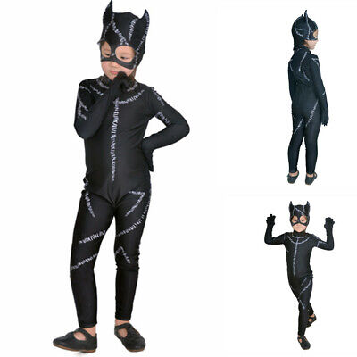 Super Hero Catwoman Costume Outfit Girls Child Jumpsuit Fancy Dress Halloween](Baby Super Hero)