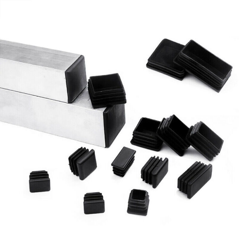 Square Rectangle Tubing Plastic End Cap Plug Pipe Tube Chair Insert Glide Covers