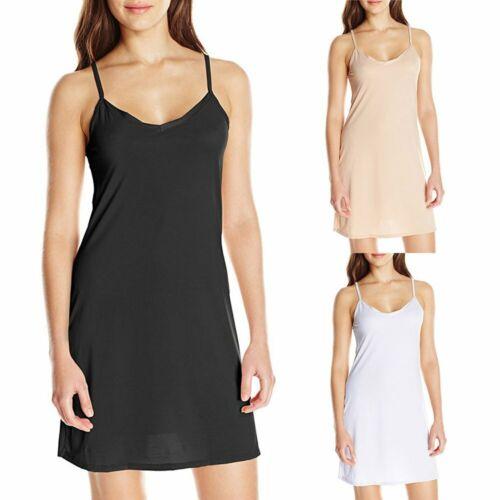 Damen Unterkleid Nachthemd Strappy Unterröcke Lingerie Trägerkleid EU Size 34-44