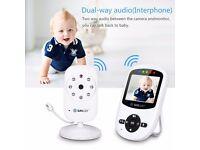 2.4 Inch Wireless Video Baby Monitor 2 Way Audio Camera Night Vision Temperature Music