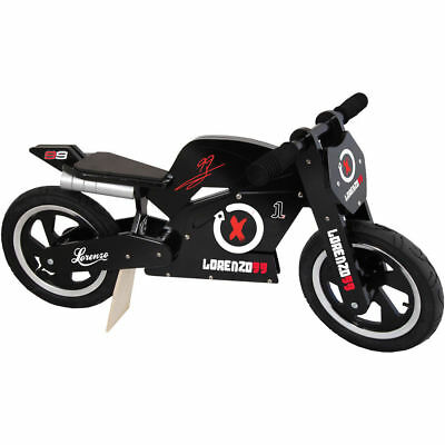 - Kiddimoto Jorge Lorenzo Super Wooden Balance training bike with matching helmet