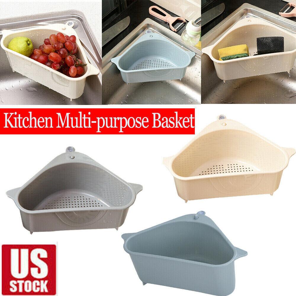 Kitchen Filter Triangular Sink Drain Shelf Storage Kitchen Rack Multi-function