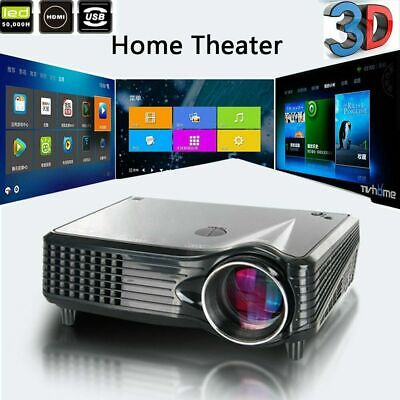 1080P Mini LED Beamer HDMI VGA USB SD MP3 Player Video Foto Home Theater Ny