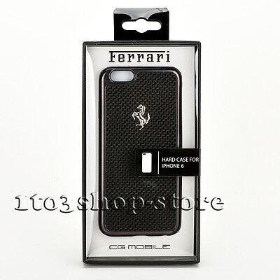 Ferrari GT iPhone 6 iPhone 6s Aluminium Cover Case - Black Carbon