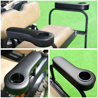 Universal Rear Seat Arm Rest Cup Holder Black for EZGO Club Car Yamaha Golf Cart