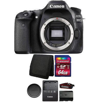 Canon EOS 80D 24.2MP Digital SLR Camera 64 GB Supplementary Bundle
