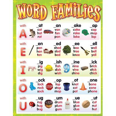 Word Families Chart Teacher Created Resources TCR7715