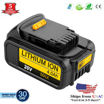 For Dewalt DCB204-2 20V Max XR 4.0Ah Lithium DCB205 DCB200 DCB206-2 Tool Battery
