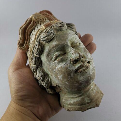 Ancient Gandhara Stucco Terracotta Female Head Statue Fragment 908 grams #316