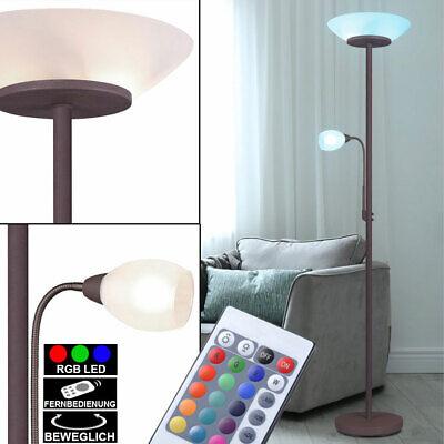 LED Flexo Spot Steh Leseleuchte Wohn Zimmer Beleuchtung Chrom Design Stand Lampe