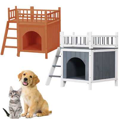 Puppy Pet Dog House Wood Room In/outdoor ...