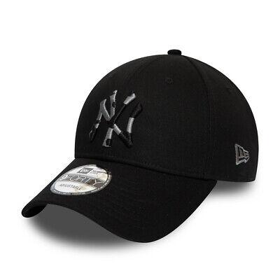 NEW ERA NEW YORK YANKEES BASEBALL CAP.9FORTY MLB BLACK CAMO STRAPBACK HAT S20 9